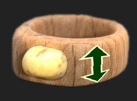 Ring bredden måles fra yderside til yderside i millimeter